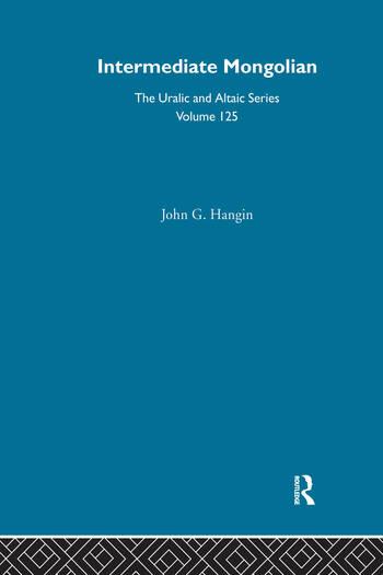 Intermediate Mongolian book cover
