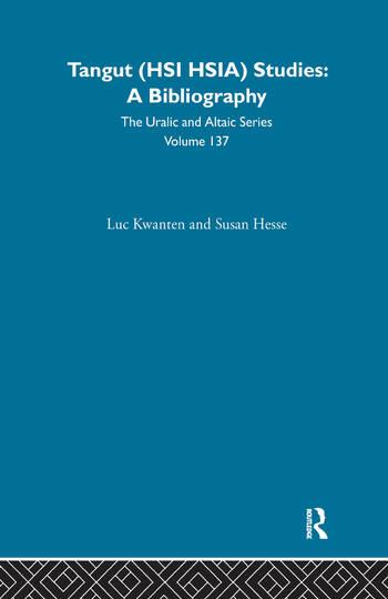 Tangut (Hsi Hsia) Studies book cover