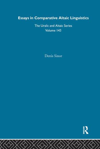 Essays in Comparative Altaic Linguistics book cover