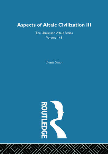 Aspects of Altaic Civilization III book cover