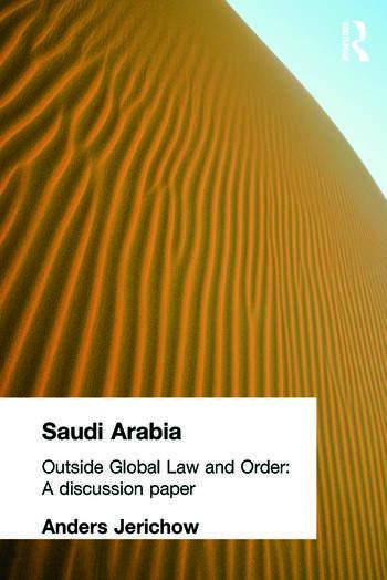 Saudi Arabia Outside Global Law and Order book cover