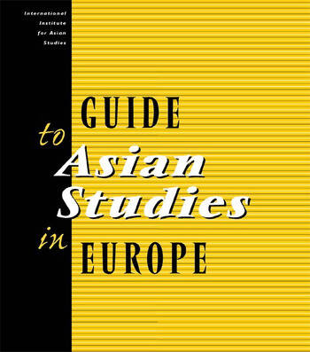 Guide to Asian Studies in Europe book cover