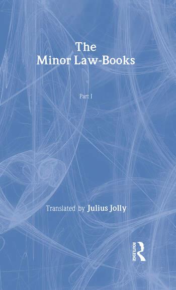 The Minor Law Books book cover