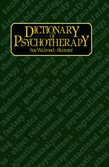 Dictionary of Psychotherapy book cover