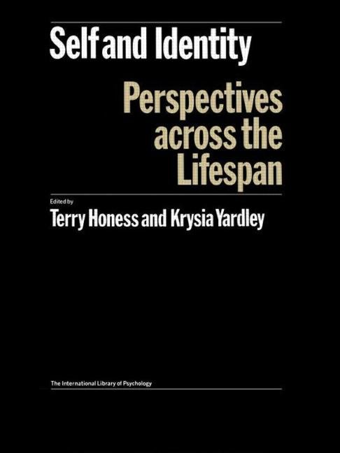Self and Identity Perspectives Across the Lifespan book cover