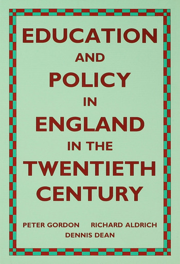 Education and Policy in England in the Twentieth Century book cover