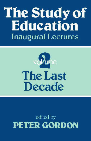 Study of Education Pb A Collection of Inaugural Lectures (Volume 1 and 2) book cover
