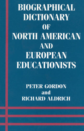 Biographical Dictionary of North American and European Educationists book cover