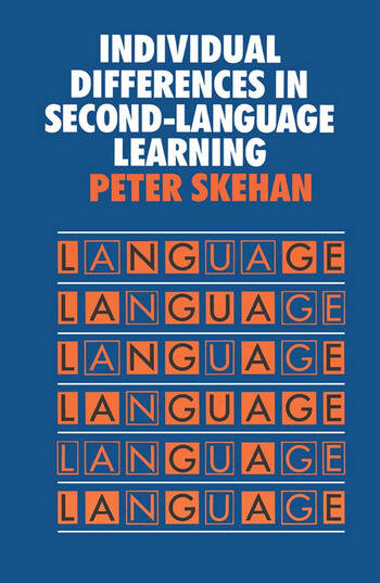 Individual Differences in Second Language Learning book cover