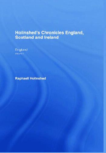 Chronicles:England,Scotland(6vl) Chro.Eng.Scot.Etc 6v book cover