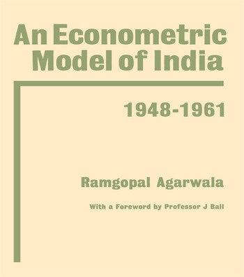 Econometric Model of India book cover