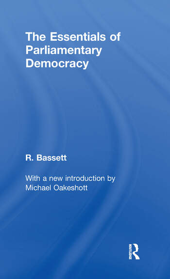 Essentials of Parliamentary Democracy book cover