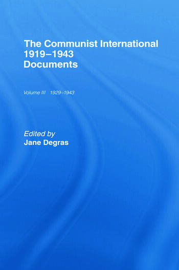 Communist International Documents book cover