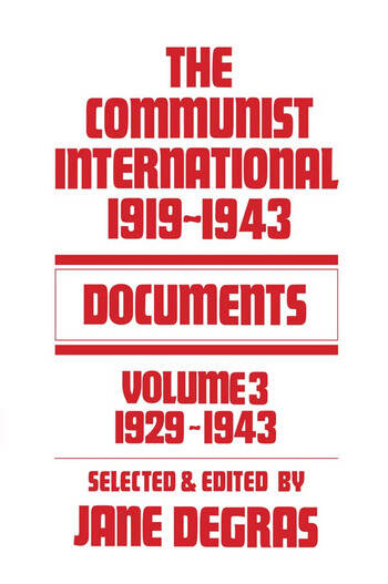 Communist International Documents, 1919-1943 book cover