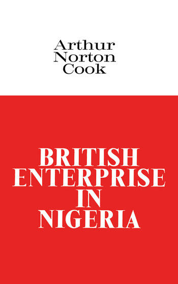 British Enterprise in Nigeria book cover