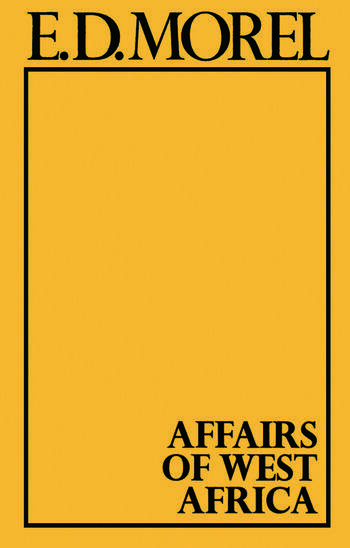 Affairs of West Africa book cover