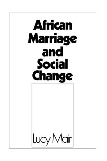 African Marriage and Social Change book cover