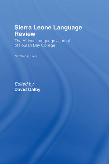 African Language Review book cover