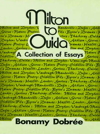 Milton to Ouida A Collection of Essays book cover