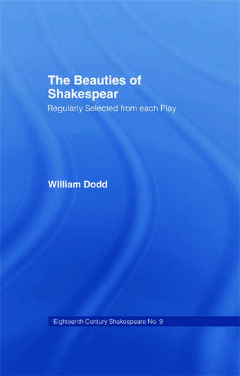 Beauties of Shakespeare Cb Eighteenth Century Shakespeare Volume 9 - 2 Volumes book cover