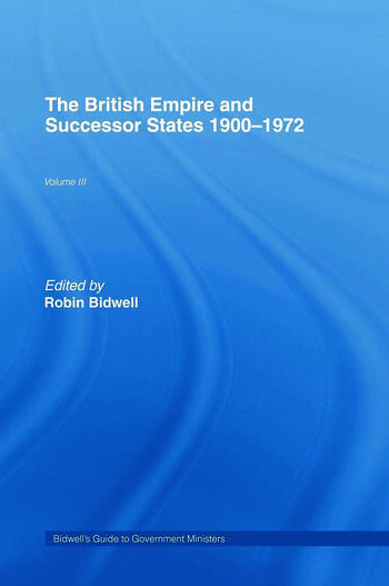 Guide to Government Ministers The British Empire and Successor States 1900-1972 book cover