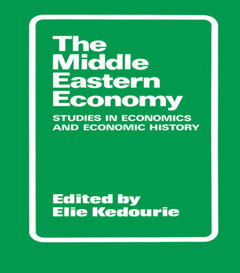 The Middle Eastern Economy Studies in Economics and Economic History book cover