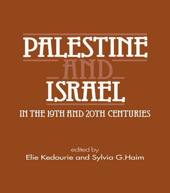 Palestine and Israel in the 19th and 20th Centuries book cover