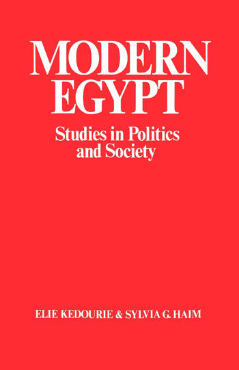 Modern Egypt Studies in Politics and Society book cover