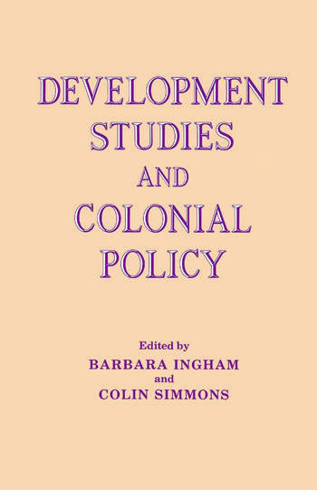 Development Studies and Colonial Policy book cover