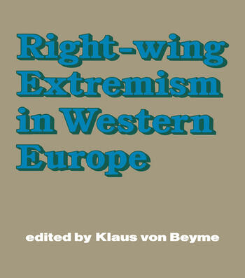 Right-wing Extremism in Western Europe book cover