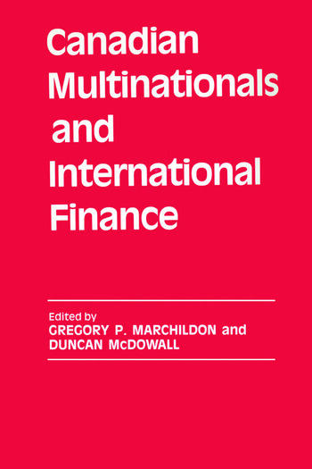 Canadian Multinationals and International Finance book cover