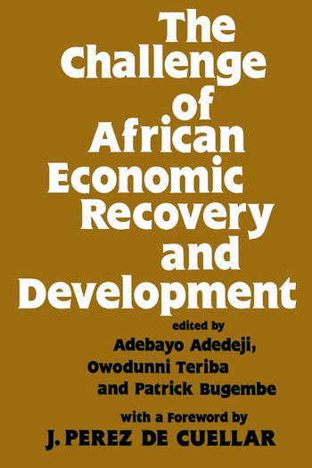 The Challenge of African Economic Recovery and Development book cover