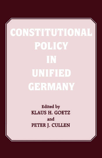 Constitutional Policy in Unified Germany book cover