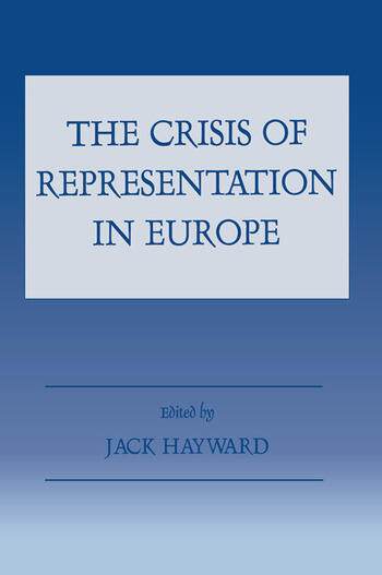 The Crisis of Representation in Europe book cover