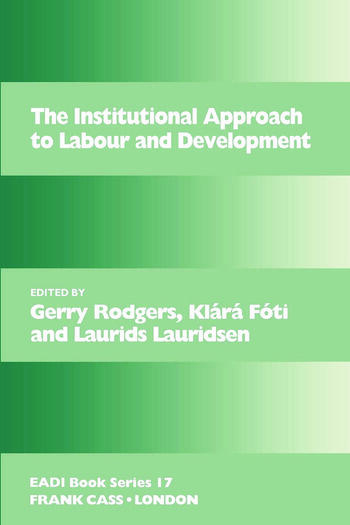 The Institutional Approach to Labour and Development book cover
