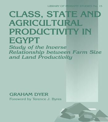 Class, State and Agricultural Productivity in Egypt Study of the Inverse Relationship between Farm Size and Land Productivity book cover