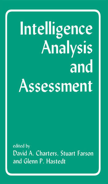 Intelligence Analysis and Assessment book cover