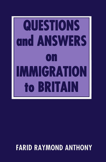 Questions and Answers on Immigration in Britain book cover
