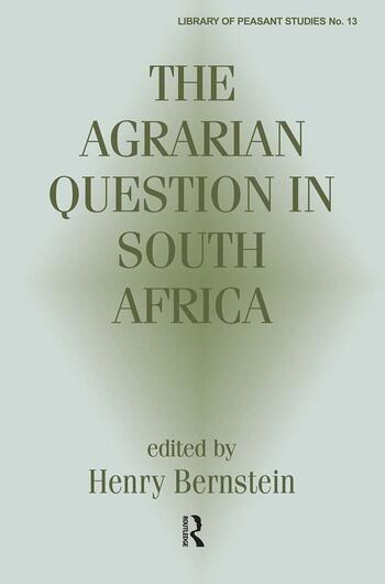 The Agrarian Question in South Africa book cover