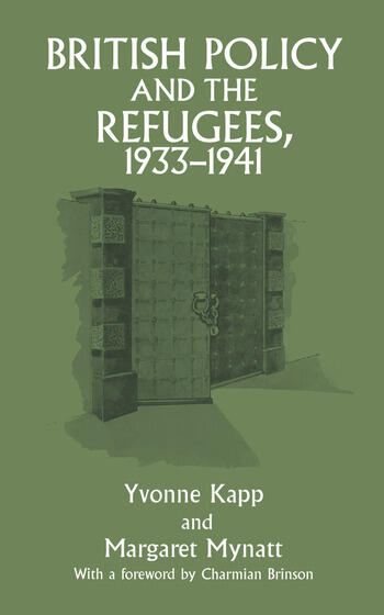 British Policy and the Refugees, 1933-1941 book cover