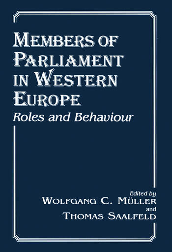 Members of Parliament in Western Europe Roles and Behaviour book cover