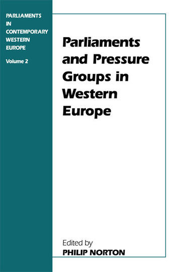 Parliaments and Pressure Groups in Western Europe book cover