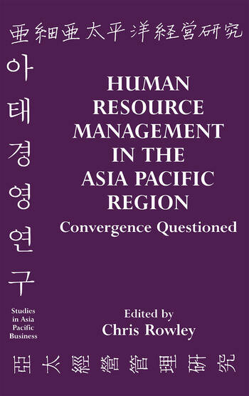 Human Resource Management in the Asia-Pacific Region Convergence Revisited book cover