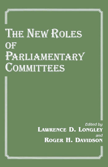The New Roles of Parliamentary Committees book cover