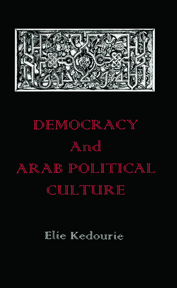 Democracy and Arab Political Culture book cover