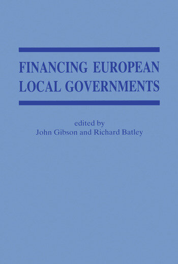 Financing European Local Government book cover