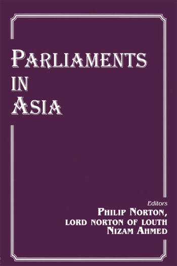 Parliaments in Asia book cover