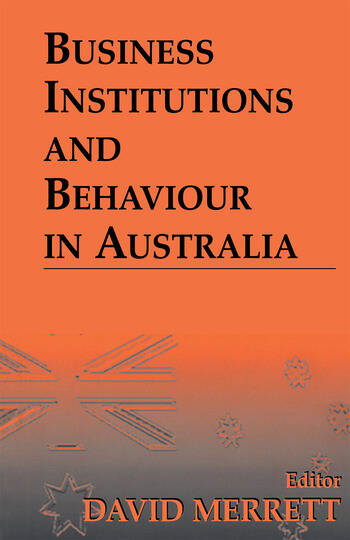 Business Institutions and Behaviour in Australia book cover