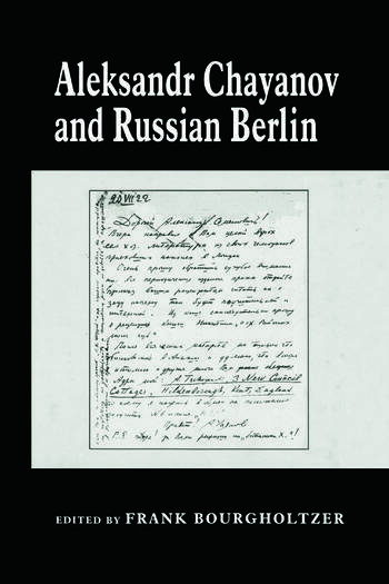 Aleksandr Chayanov and Russian Berlin book cover