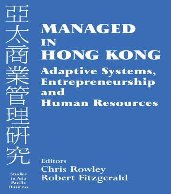 Managed in Hong Kong Adaptive Systems, Entrepreneurship and Human Resources book cover